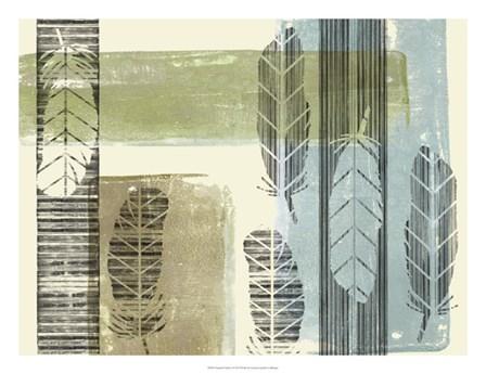 Stamped Feathers I by Jennifer Goldberger art print