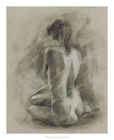Charcoal Figure Study II by Ethan Harper art print
