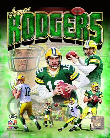 Aaron Rodgers 2014 Portrait Plus art print