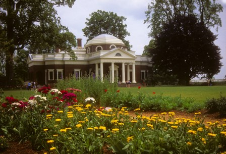 Gardens at Jefferson s home at Monticello art print