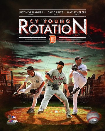 Detroit Tigers Cy Young Rotation Composite art print