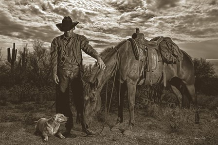 Compadres by Barry Hart art print
