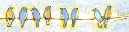 Eight Little Bluebirds by Jennifer Lommers art print