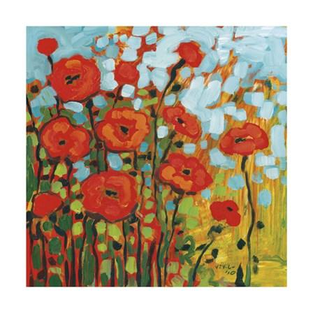 Red Poppy Field by Jennifer Lommers art print