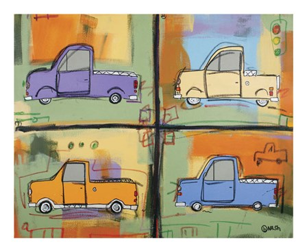 Pickups by Brian Nash art print