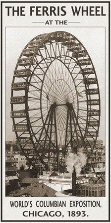 The Ferris Wheel, 1893 by Vintage Photography art print