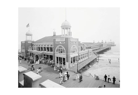 Atlantic City Steel Pier, 1910s by Vintage Photography art print