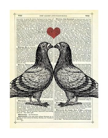 Pigeons in Love by Marion McConaghie art print