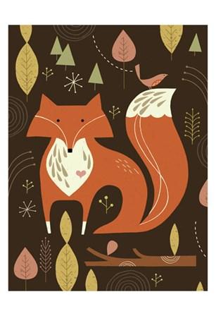 Fox in the Woods by Tracy Walker art print