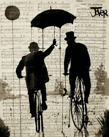 The Umbrella by Loui Jover art print