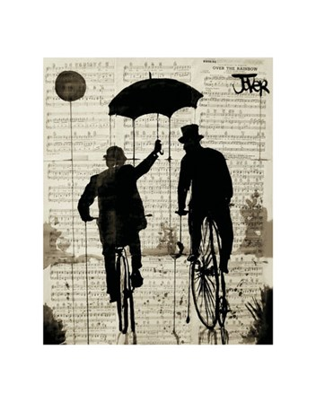 The Umbrella by Loui Jover art print