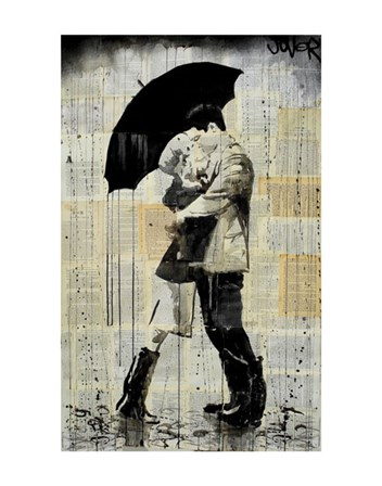 The Black Umbrella by Loui Jover art print