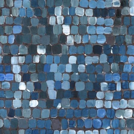 Cobalt Cobbles by Studio Eleven art print
