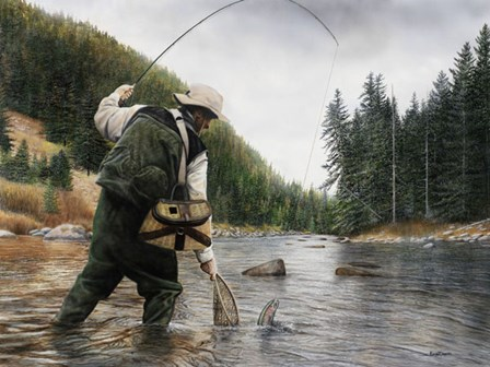 Fishing the Gallatin by Kevin Daniel art print