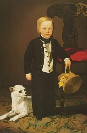 Boy with Dog by Charles Christian Nahl art print