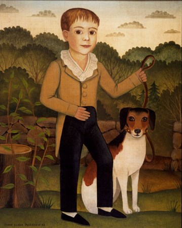 Boy with Dog by Diane Ulmer Pedersen art print
