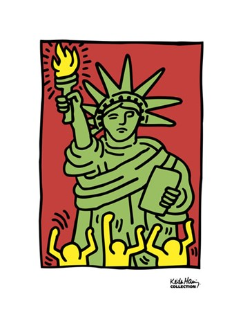 Statue of Liberty, 1986 by Keith Haring art print