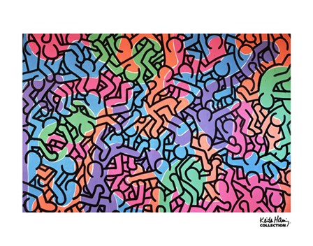 Untitled, 1985 (figures) by Keith Haring art print
