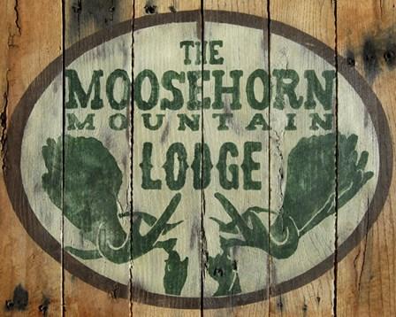 The Moosehorn Mountain Lodge by Katelyn Lynch art print