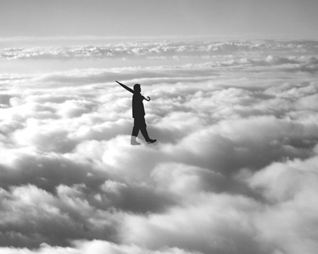 Walk in the Clouds by Urban Cricket art print
