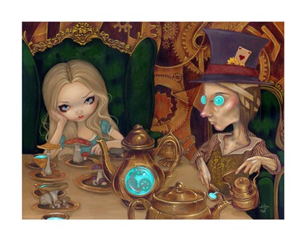 Alice and the Mad Hatter by Jasmine Becket-Griffith art print