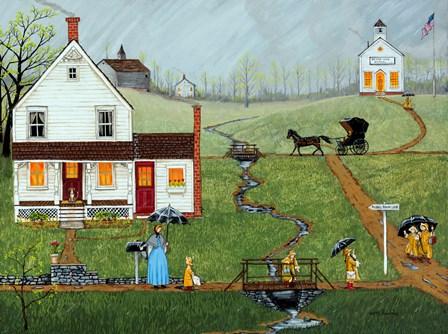 Puddle Brook Lane by Joseph Holodook art print