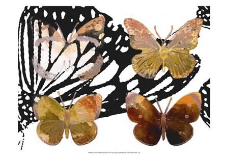 Layered Butterflies III by Sisa Jasper art print