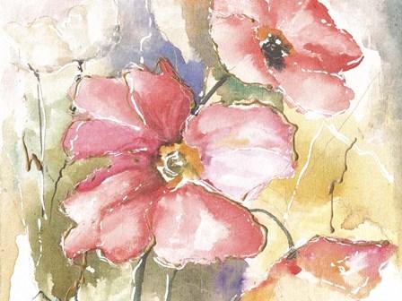Soft Poppies I by Leticia Herrera art print