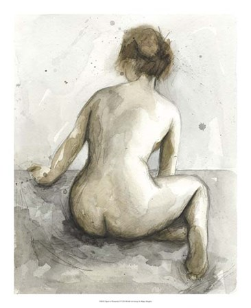 Figure in Watercolor I by Megan Meagher art print