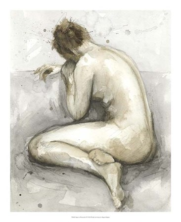 Figure in Watercolor II by Megan Meagher art print