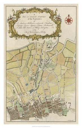 Parishes of London by Brandon Cole art print