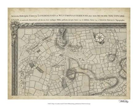 Map of London Grid I art print