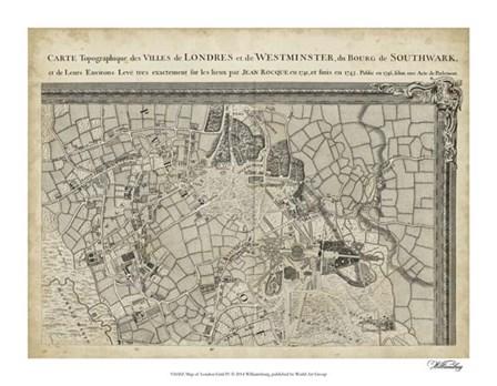 Map of London Grid IV art print
