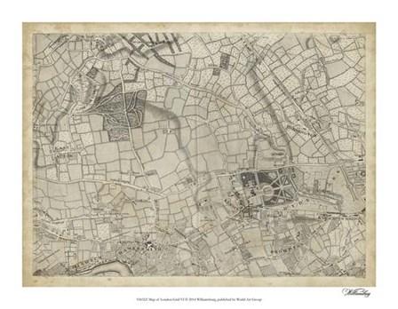 Map of London Grid VI art print