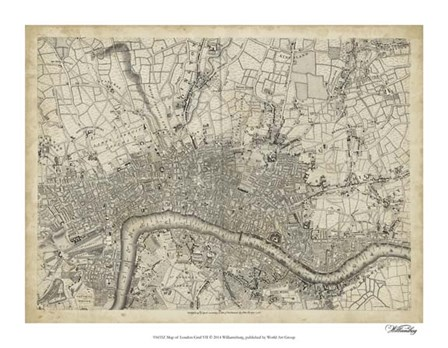 Map of London Grid VII art print