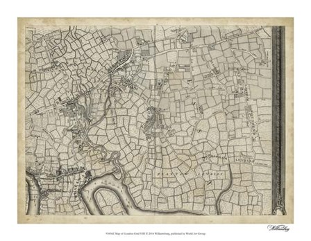Map of London Grid VIII art print