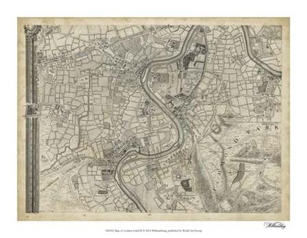 Map of London Grid IX art print
