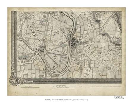 Map of London Grid XIII art print