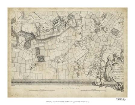 Map of London Grid XIV art print