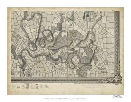 Map of London Grid XVI art print