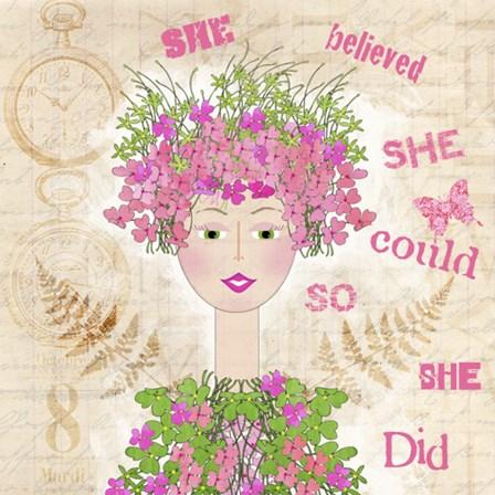 She Believed by Jill Meyer art print