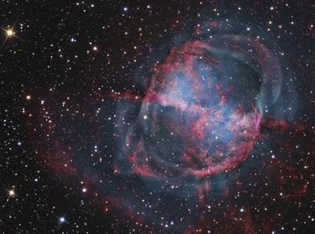 Close up of The Dumbbell Nebula by R Jay GaBany/Stocktrek Images art print