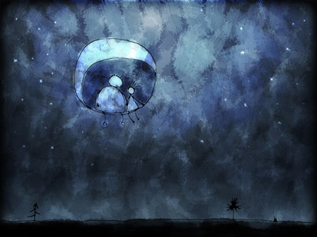 Sitting on the Moon by Vlad Gerasimov/Stocktrek Images art print
