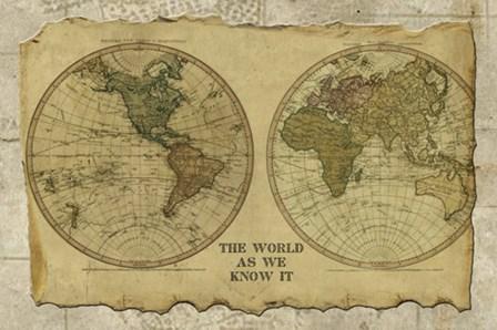 Antique Map I by Beth Albert art print