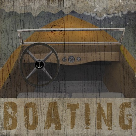 Boating by Beth Albert art print