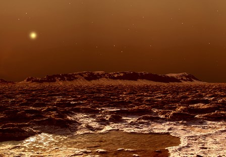 View from the Edge of the Southern Polar Cap of Mars by Frank Hettick/Stocktrek Images art print
