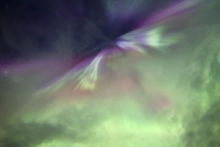 Aurora Borealis and Big Dipper Burst, Canada by Joseph Bradley/Stocktrek Images art print