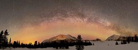 Aurora Borealis and Milky Way over Yukon, Canada by Joseph Bradley/Stocktrek Images art print