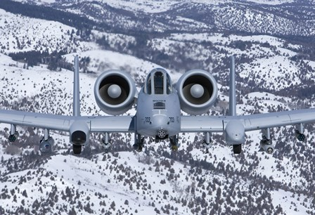 An A-10C Thunderbolt over Idaho with Snow by HIGH-G Productions/Stocktrek Images art print