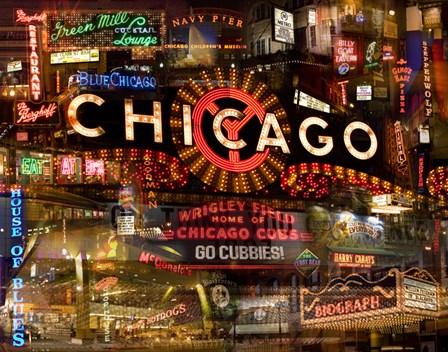 Chicago Night by Giesla Hoelscher art print